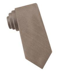 MICHAEL Michael Kors | Brown Silk Blend Tie for Men | Lyst