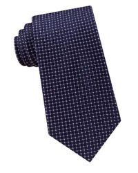 Michael Kors   Blue Micro Square Silk Tie for Men   Lyst