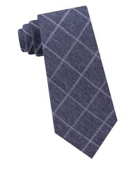 Michael Kors - Blue Maritime Broad Grid Silk Blend Tie for Men - Lyst