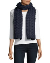 Michael Kors - Blue Cable-knit Scarf for Men - Lyst