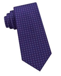 Michael Kors - Purple Small Stitched Neat Silk Tie for Men - Lyst