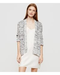 Lou & grey Speckle Open Cardigan in Gray | Lyst