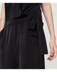 Lou & Grey | Black Fluid Crossover Jumpsuit | Lyst