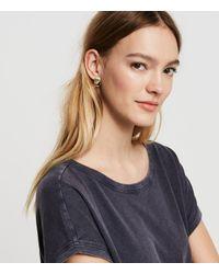 Lou & Grey - Metallic Cloverpost Badge Earrings - Lyst