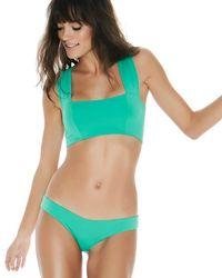 L*Space - Green Parker Bikini Top - Lyst