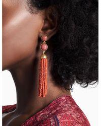 Lucky Brand - Metallic Super Tassel Earring - Lyst