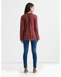Lucky Brand - Red Paisley Peasant Top - Lyst