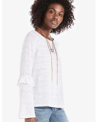 Lucky Brand - White Ruffle Sleeve Top - Lyst