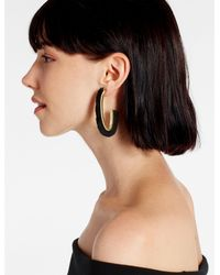 Lucky Brand - Metallic Black Fringe Earring - Lyst