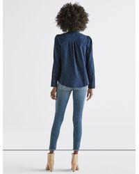 Lucky Brand - Blue Polka Dot Puff Sleeve Shirt - Lyst