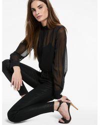 Lucky Brand - Black Ava Mid Rise Coated Legging Jean - Lyst