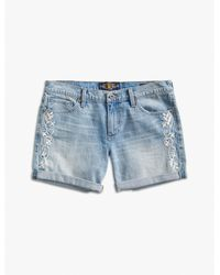 Lucky Brand | Blue The Roll Up W Embroidery | Lyst