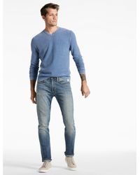 Lucky Brand - Blue Washed V-neck Sweater for Men - Lyst