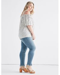 Lucky Brand - Blue Stripe Off The Shoulder - Lyst