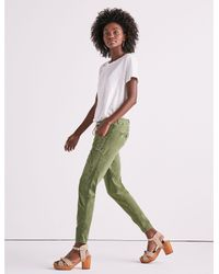 Lucky Brand - Green Cargo Pant With Eyelets - Lyst