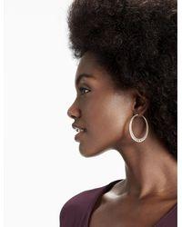 Lucky Brand - Metallic Openwork Hoop Earring - Lyst