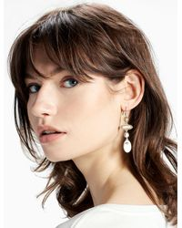 Lucky Brand - Multicolor Two Tone Linear Earring - Lyst