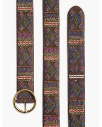 Lucky Brand - Multicolor Beaded Embroidery Belt - Lyst