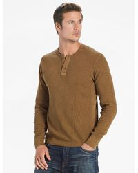 Lucky Brand - Green Lived In Thermal Henley for Men - Lyst