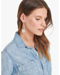 Lucky Brand - Metallic Ornate Folk Square Earrings - Lyst
