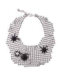 Lulu Frost - Multicolor Radiant Mesh Necklace Silver - Lyst