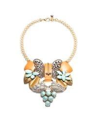 Lulu Frost - Metallic Vintage Flora Journey Necklace - Lyst