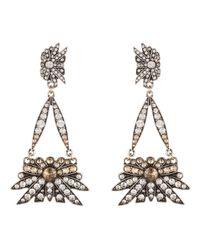 Lulu Frost | Metallic Larkspur Drop Earring Silver | Lyst