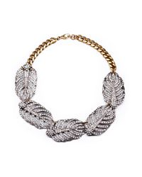 Lulu Frost | Metallic Silvertone Drift Statement Necklace | Lyst
