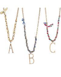 Lulu Frost - Multicolor Liberty London X Lulu Plaza Half Woven Necklace - Lyst
