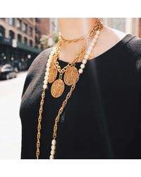 Lulu Frost | Metallic Nova Messenger Necklace | Lyst