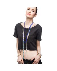 Lulu Frost - Blue George Frost G. Frost Culture Clash Morse Necklace - Lyst