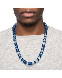 Lulu Frost | Blue George Frost Victory Morse Glass Bead Necklace | Lyst