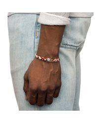Lulu Frost - Red George Frost Woven Bracelet for Men - Lyst