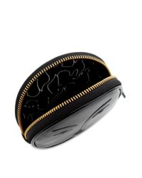 Lulu Guinness - Black Patent Leather Moon Lady Carolina Coin Purse - Lyst