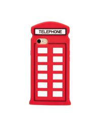 Lulu Guinness - Red Telephone Box Iphone 7 Case - Lyst