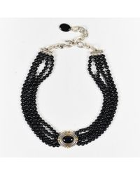 Stephen Dweck - Black Onyx Beaded Sterling Silver 18k Gold Multi Strand Necklace - Lyst