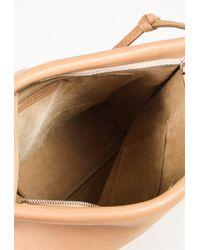 The Row - Multicolor Tan Saddle Leather Wander Shoulder Bag - Lyst