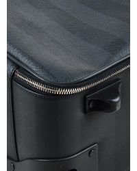 "Fendi - Black & Grey Canvas Striped Rollaway ""pequin Trolley"" Carryon for Men - Lyst"