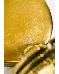 Chanel - Metallic Gold Tone Metal Circular 'cc' Statement Ring - Lyst