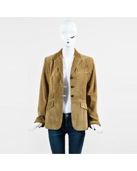 Ralph Lauren - Light Brown Suede Button Up Jacket - Lyst