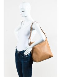 The Row - Multicolor Tan Saddle Leather Wander Shoulder Bag - Lyst