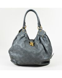 Louis Vuitton - Anthracite Gray Monogram Mahina Leather L Shoulder Bag - Lyst