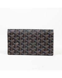 "Goyard - Black Multicolor Coated Canvas Leather ""ine"" Monogram ""richelieu"" Wallet - Lyst"