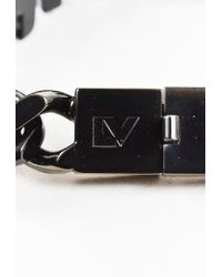 Louis Vuitton - Black Lacquered Metal Id Bracelet - Lyst