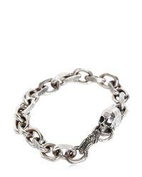Emanuele Bicocchi - Metallic Skull Chain Bracelet - Lyst