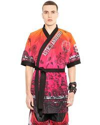 Astrid Andersen - Black Gradient Printed Techno Mesh Kimono for Men - Lyst