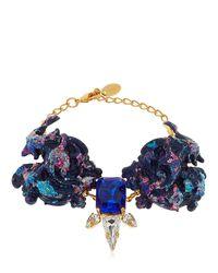 Halo - Blue Colored Bracelet With Swarovski Crystals - Lyst