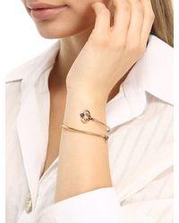 Alcozer & J - Metallic Key Cuff Bracelet - Lyst