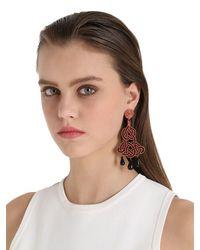Anna E Alex - Multicolor Passamaneria Rosa Lamè Earrings - Lyst