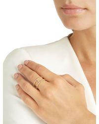 Apm Monaco - Metallic Croisette Yellow Silver Ring - Lyst